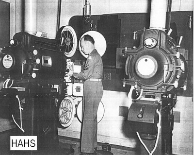 Camp Shelby projection room
